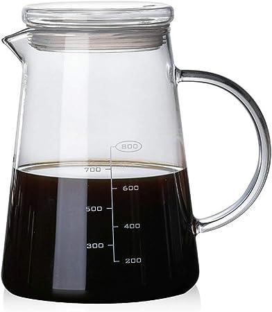 YQQ-Cafetera 1200ml V60 Servidor de la Gama de café de Vidrio a ...