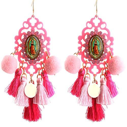 Earrings Resin Big Earring Tassel Earring Large Long Brinco Ear Accessories Oorbellen Christmas Gift,pink