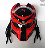 Pro Predator Motorcycle DOT Approved Helmet Red and Black Style include Tri Laser SY33