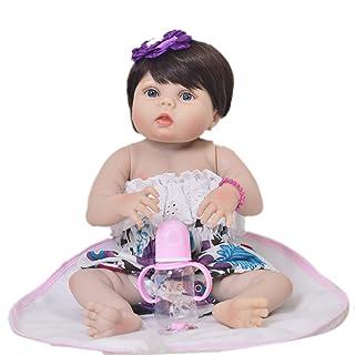 HUAXING Reborn Baby Doll Vinile 23inch 57cm Bella realistica Carino Bambino Ragazzo Giocattolo Bambola Magnete Libero Ciuccio