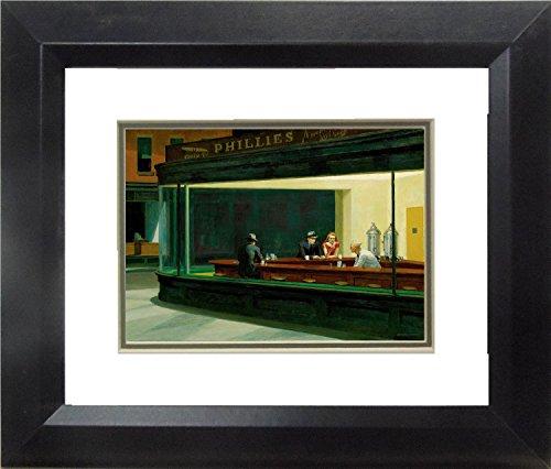 Buyartforless IF MM516-DM10 10x8 1.25 Black Plexi Framed Boulevard Broken Dreams Edward Hopper Museum Masterpiece Fine Art - Boulevard Framed