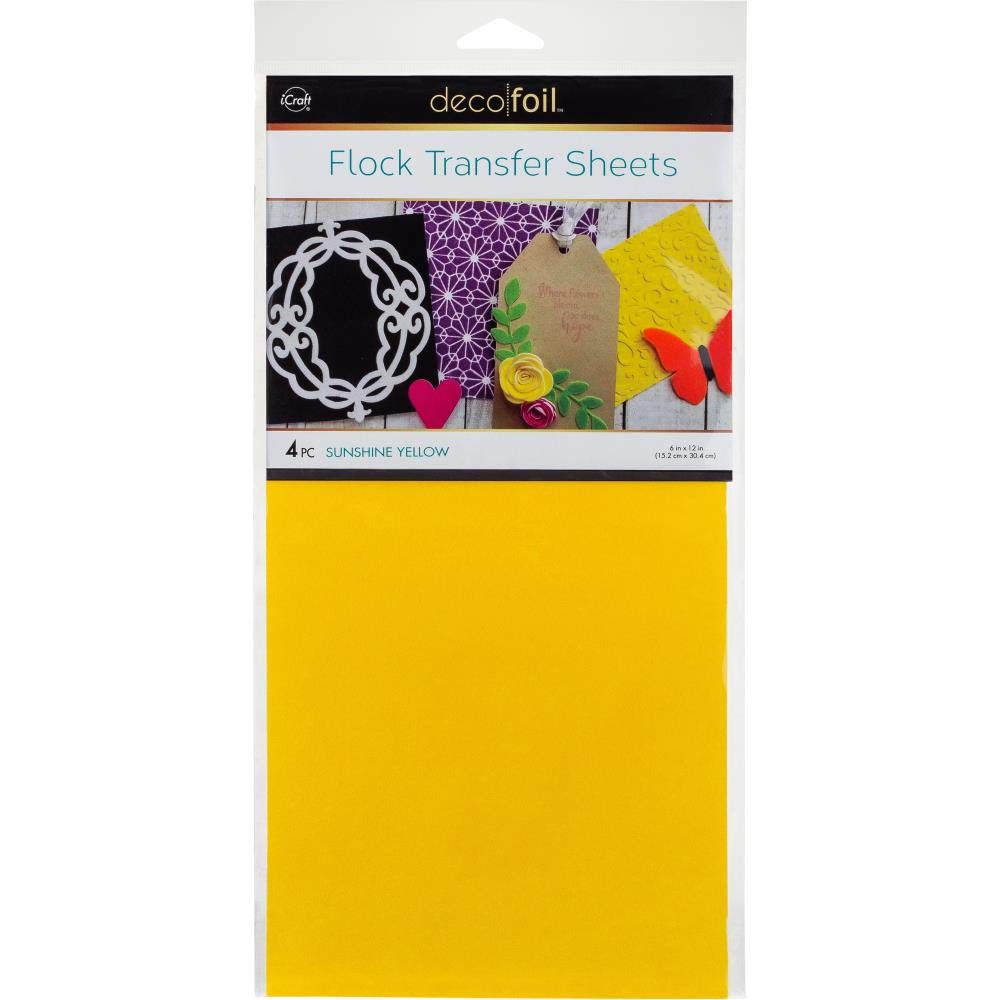 Amazon.com: Deco Foil - Flock Transfer Sheets and Foam Adhesive Bundle - Warm Tones - Orange, Yellow, Pink and White Flock - 5 Items: Arts, Crafts & Sewing