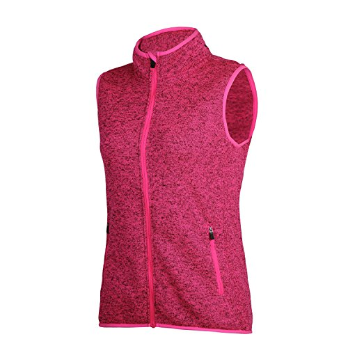 SPOEAR Zip Up Womens Vest with Zipper Pockets Athletic Sweater Fleece Vest Sleeveless Sweater Jacket(Pink,XXL)