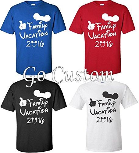 Disney Family Vacation T Shirts Matching Cute Mickey T Shirts  Blue  L Youth