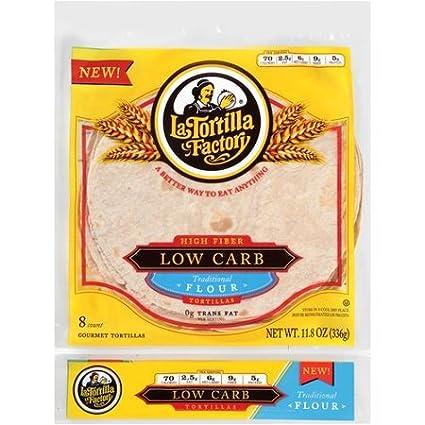 La Tortilla Factory Tortilla Flour 8ct Lowcrb: Amazon.com ...