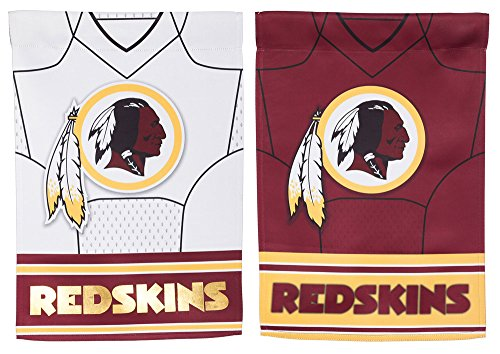 (Team Sports America NFL Washington Redskins Double Sided Jersey Suede Garden Flag 12.5 x 18 Inches)