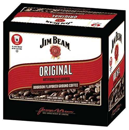Jim Beam Original Bourbon Flavored Single Serve Coffee, 18 cups, Keurig 2.0 Compatible