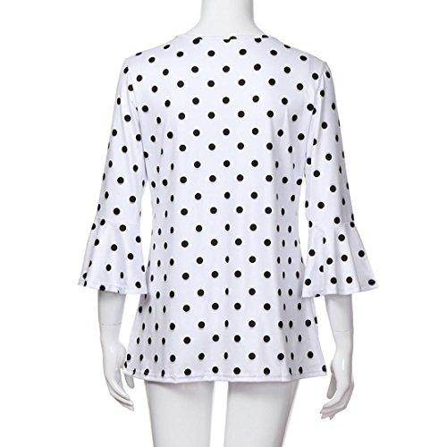 4 De Noir Amuster Femmes 3 shirt Mode La À Womens Chemisier T Manches Des OSqSXI