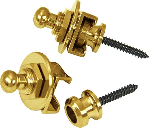 Schaller Guitar Strap Locks and Buttons  Gold