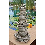 Cheap Design Toscano Tower of Frog Power Garden Statue