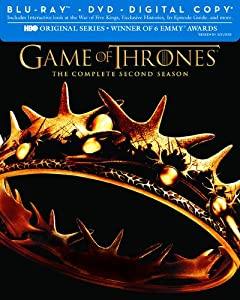 Cover Image for 'Game of Thrones: The Complete Second Season (Blu-ray/DVD Combo + Digital Copy)'