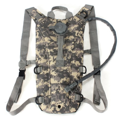 CAMTOA 3L Water Bag Hydration Pack Bladder Hydration System Water Bag Backpack For Climbing Hiking Survival Event ACU color 2