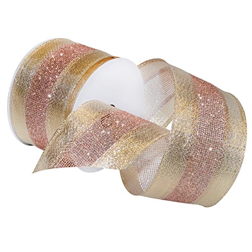 Pink Ribbon Items (Morex Ribbon Dimensions Ribbon, French Wired Polyester, 2 1/2 inches by 20 Yards, Blush, Item 7724.60/20-430, 2-1/2