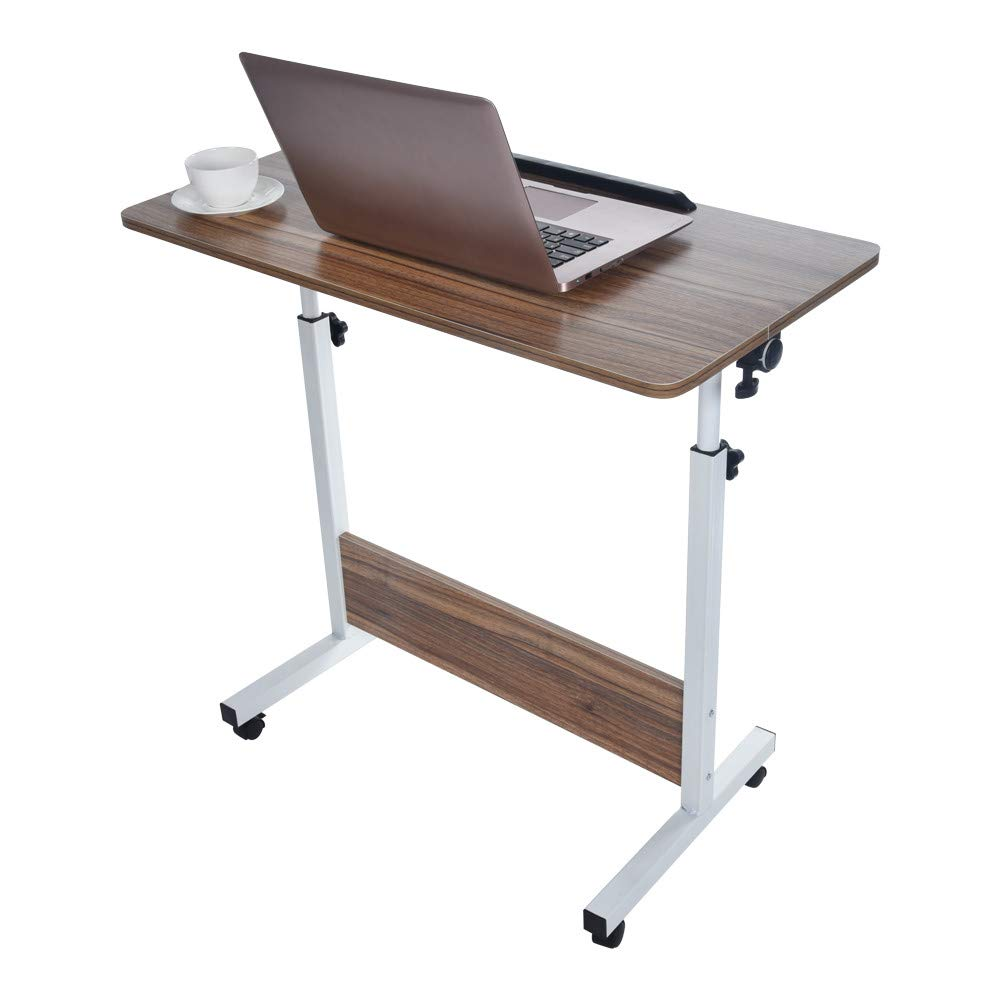 Folding Computer Desk NDGDA Household Can Be Lifted and Folded Computer Desk 80cm50cm (Yellow)