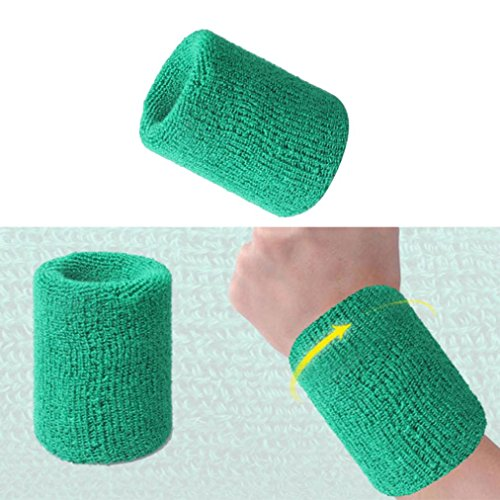 Hunpta Baumwoll Armbänder Handgelenkband Bands Schweißbänder Schweißband für Sport Tennis H