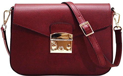 Women's Crossbody Shoulder Bag Handbag Floto Sapri in Saffiano Leather by Floto