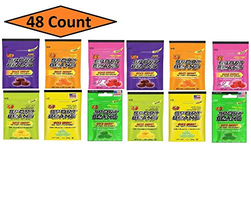 Sport Beans, Energizing Variety Pack, 1-Ounce Bags (48 Count) - 4 of each flavor by Jelly Belly