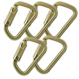 Fusion Climb Tacoma Steel Triple Lock with Key Nose Modified D-shaped High Strength Carabiner 5-Pack