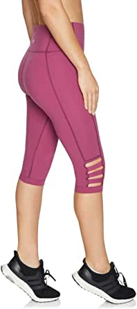 Rockwear Activewear Women's 3/4 Tape Detail Luxesoft Tight Mulberry 8 from Size 4-18 for 3/4 Length Ultra High Bottoms Leggings + Yoga Pants+ Yoga Tights