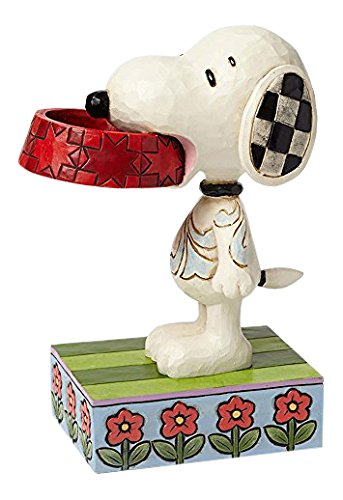 (Jim Shore Snoopy with Dish Figurine )