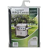 Universal 62 Inch Light Weight Vinyl 4 Burner Propane Vinyl Grill Cover Canvas