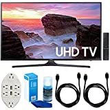 """Samsung UN43MU6300 43"""" 4K Ultra HD Smart LED TV (2017 Model) w/Accessories Bundle Includes, Transformer Tap USB w/6-Outlet Wall Adapter & 2 Ports, 2 x 6ft. HDMI Cable & Screen Cleaner For LED TVs"""