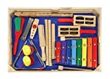 Kids Musical Instruments Best Deals - Melissa & Doug Deluxe Band Set With Wooden Musical Instruments and Storage Case