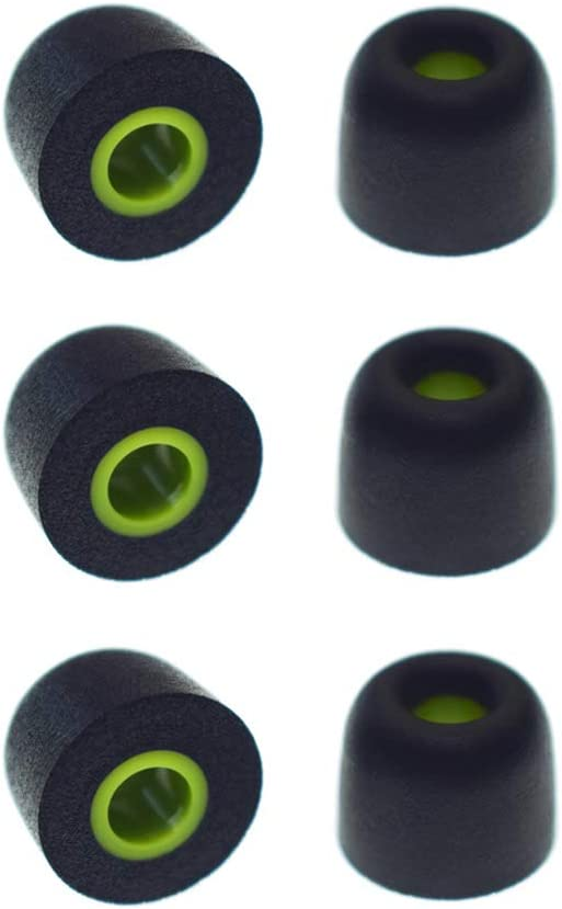 Fit for Jaybird X3 X2 X Bluetooth Earphone Bluebud Foam Tip Ear Tip for Jaybird X X2 X3 Earphone Medium-3 Pairs S//M//L 3 Sizes 3 Pairs Soft Noise-Isolation Memory Foam Replacement Earbud Tips