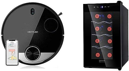 Cecotec Robot Aspirador Conga Serie 3290 Titanium + Vinoteca de 8 ...