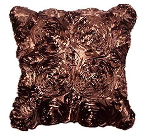 TheWin dormitorio cojín almohada de bordar, diseño de rosas ...