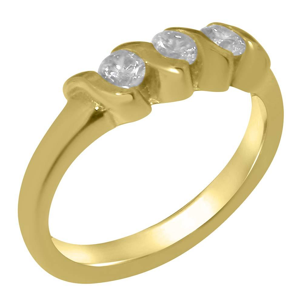 英国製(イギリス製) K9 イエローゴールドキュービックジルコニア レディース リング 指輪 各種 サイズ あり   B07T3H6NRY