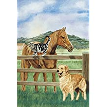 Toland Home Garden 109887 Pets of A Pasture House Flag