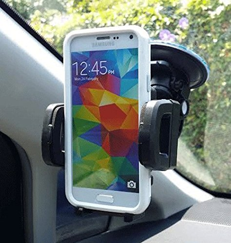 ULTRA DUTY CELL PHONE CAR MOUNT WINDSHIELD / CLIP VENT MOUNT CAR HOLDER #44 + FREE STYLUS PEN fits SAMSUNG GALAXY S7 edge , S6 edge+plus / NOTE 5 / NOTE 4 / NOTE 3 / NOTE 2 with OTTERBOX DEFENDER / COMMUTER protective cover case on (By All_Instore)