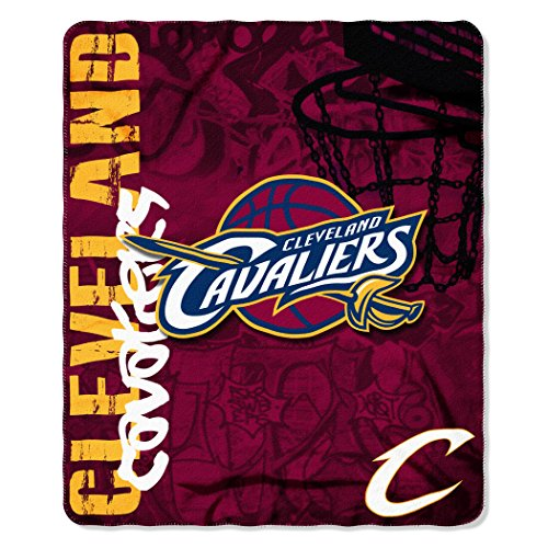 The Northwest Company NBA Cleveland Cavaliers Hard Knocks Printed Fleece Throw, 50-inch by 60-inch by The Northwest Company