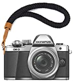 First2savvv Black Cotton Camera Hand Strap Adjustable Safety Wrist Strap for Fujifilm XE3 X 100F X100T X100S XT20 XT10 XT3 XT2 XT1 X 70 X-Pro2 X-Pro1 X-E2S XE2 X 30 X20 X 10 XF1 - XJ-S-MM-A01G11