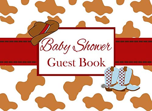 Baby Shower Guest Book: Western Cowboy Advice for Parents and Gift Log ()