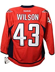 ac4ced155 Tom Wilson Autographed Signed Washington Capitals Reebok Red XL Jersey FAN