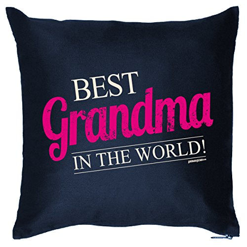 Mega schöne Stoffkissen Soffakissen Dekokissen für die beste Oma de Welt - Best Grandma in the World /Goodman Design