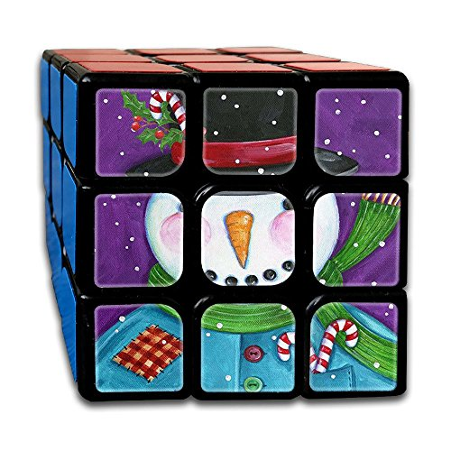 Patchwork Snowman DIY Speed Cube Smooth Magic Cube 3x3x3 Puzzles Toys For Cube Fans