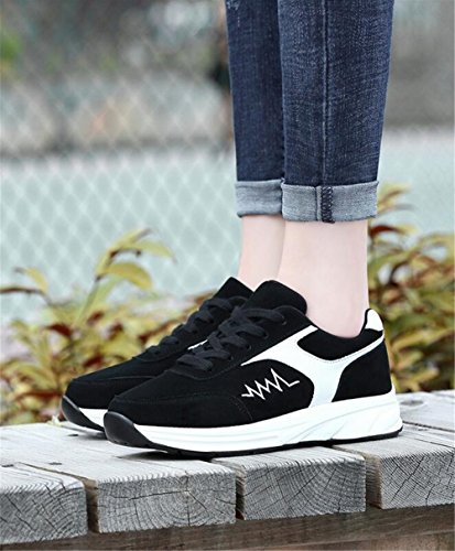 B Shoes Pelle Nubuck Light Scarpe Comfort up da Spring Scarpe Donna Lace Heel Flat in Up Sneakers Fall Casual xqnwP8wUpE
