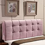 YXCSELL Large Upholstered Headboard Filled Triangular Soft Wedge Cushion Backrest Positioning Support Reading Pillow Lumbar Pad for Sofa Bed with Removable Cover Dusty Pink 79 Inches