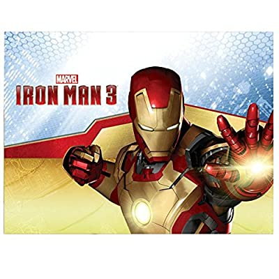 Marvel Iron Man 3 Plastic Tablecover Table Cover - blue: Toys & Games