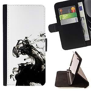 For Sony Xperia Z5 Compact Z5 Mini (Not for Normal Z5) Case , Tinta blanca limpia minimalista Agua- la tarjeta de Crédito Slots PU Funda de cuero Monedero caso cubierta de piel
