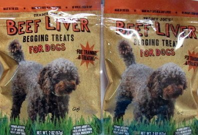 2 Pack Trader Joe's Beef Liver Begging Treats for Dogs
