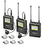 Saramonic UWMIC9 96-Channel Digital UHF Wireless Lavalier Microphone System with 2 Bodypack Transmitters, Portable Receiver, 2 Lav Mics & Bonus ''Deadcat'' Lav Mic Windscreens (RX9+TX9+TX9)