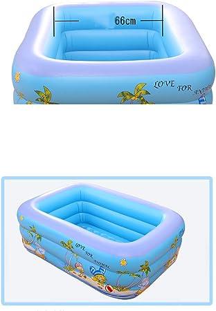 Godme-Baby pool Piscina Hinchable Rectangular, Piscina Inflable de 150 * 100 * 45 cm, Adecuada para la Familia/Piscina al Aire Libre/para niños: Amazon.es: Hogar