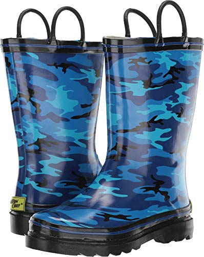 Western Chief Boys Kid's Waterproof Printed Rain Boot, Hunter's Camo, 11/12 M US - Camo Kids Boot Rubber
