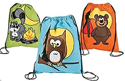 12 pack - Camping Adventure theme Backpacks