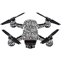 Skin For DJI Spark Mini Drone – Abstract Black | MightySkins Protective, Durable, and Unique Vinyl Decal wrap cover | Easy To Apply, Remove, and Change Styles | Made in the USA