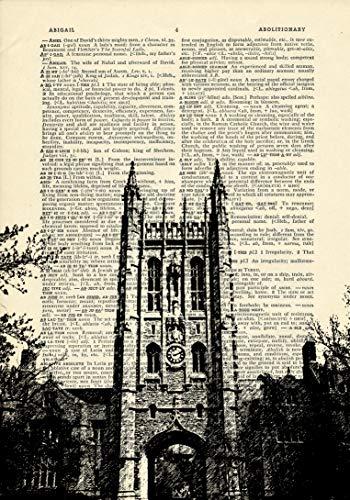 Missouri Memorial Union Building University of Mizzou Printed on Dictionary Paper (Printed Union)